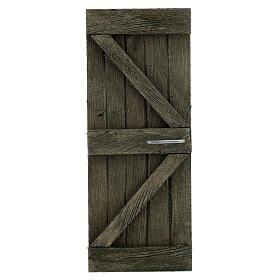 Coppia ante portone legno 20x5 cm per statue di 14-16 cm s2