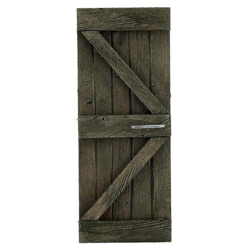 Coppia ante portone legno 20x5 cm per statue di 14-16 cm 2