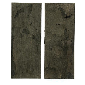 Two-leaf wood door 20x5 cm for Nativity Scene with 14-16 cm figurines s3