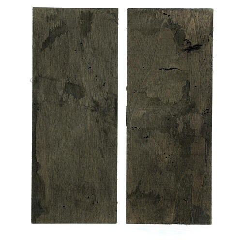 Two-leaf wood door 20x5 cm for Nativity Scene with 14-16 cm figurines 3