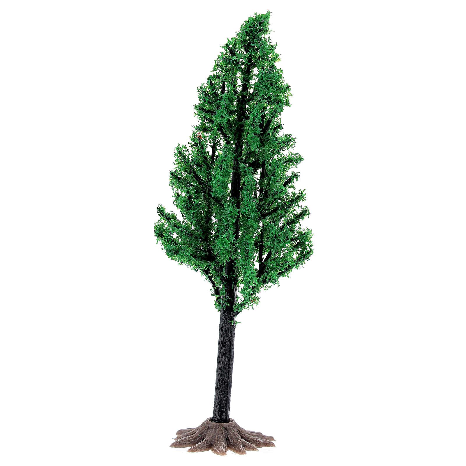 Árvore PVC 14 cm miniatura para presépio com figuras altura média 6-8 cm 4