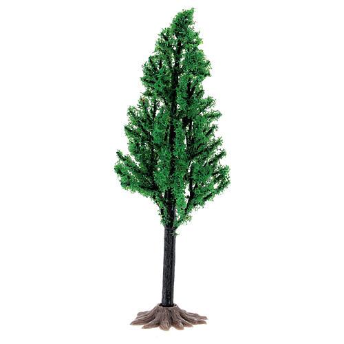 Árvore PVC 14 cm miniatura para presépio com figuras altura média 6-8 cm 1