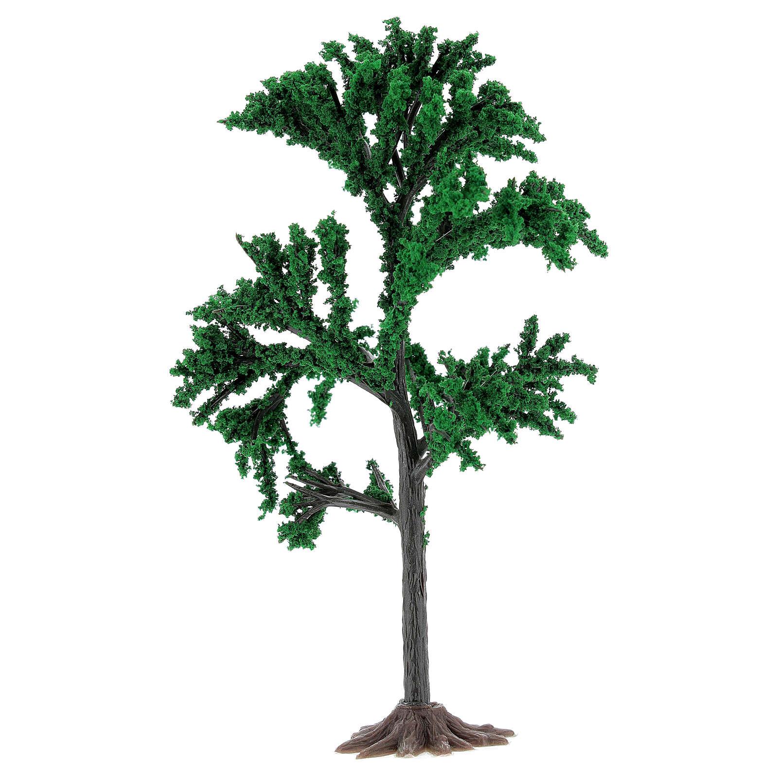 Albero chioma verde presepe 4-8 cm 4