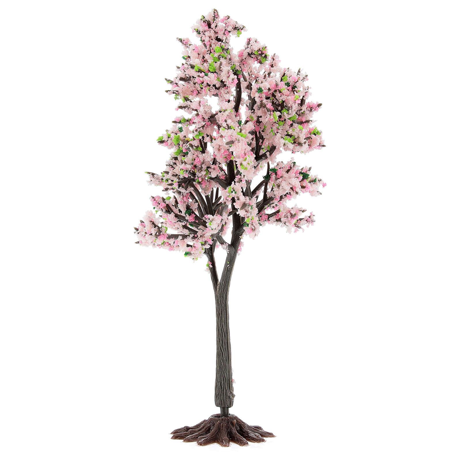 Cerejeira em flor PVC 15 cm miniatura para presépio com figuras altura média 6-10 cm 4