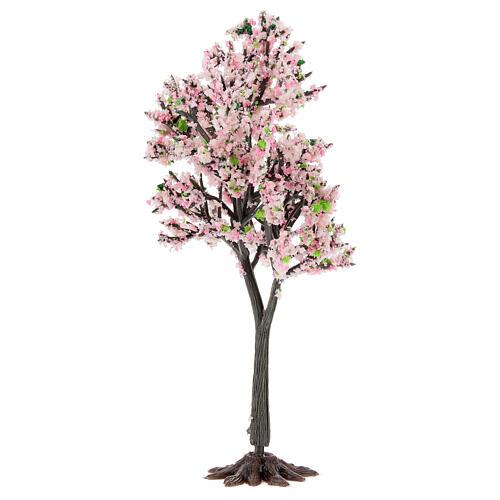 Cerejeira em flor PVC 15 cm miniatura para presépio com figuras altura média 6-10 cm 2
