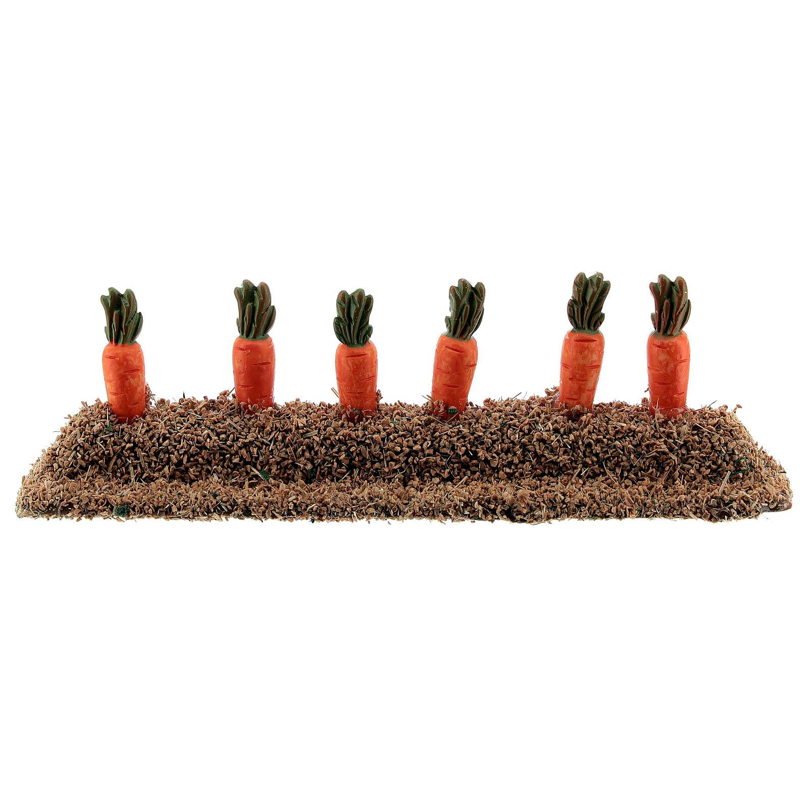 Morceau potager carottes résine 10-14 cm 4