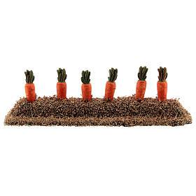 Canteiro com cenouras miniatura resina para presépio com figuras altura média 10-14 cm s1