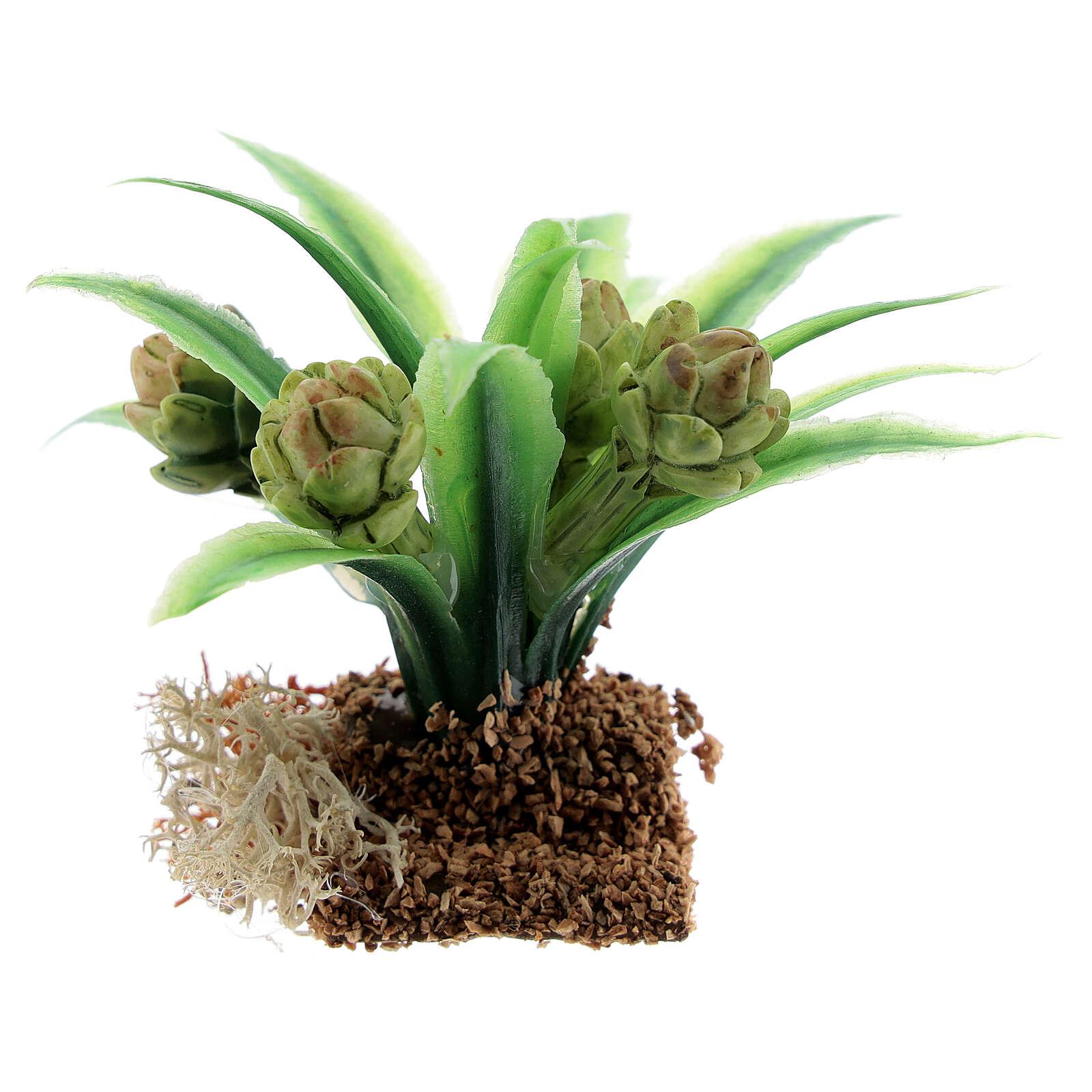 Pianta carciofo 6 cm presepe miniatura 12-14 cm 4
