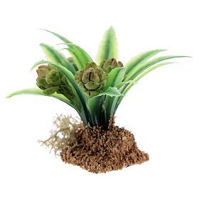 Pianta carciofo 6 cm presepe miniatura 12-14 cm s2