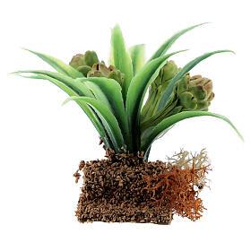 Pianta carciofo 6 cm presepe miniatura 12-14 cm s3