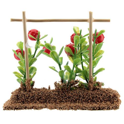 Horta com tomates miniatura resina 7x10x2 cm para presépio com figuras altura média 12-14 cm 3