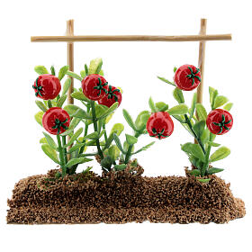 Vegetable garden tomatos 7x10x2 cm for Nativity Scene with 12-14 cm figurines s1