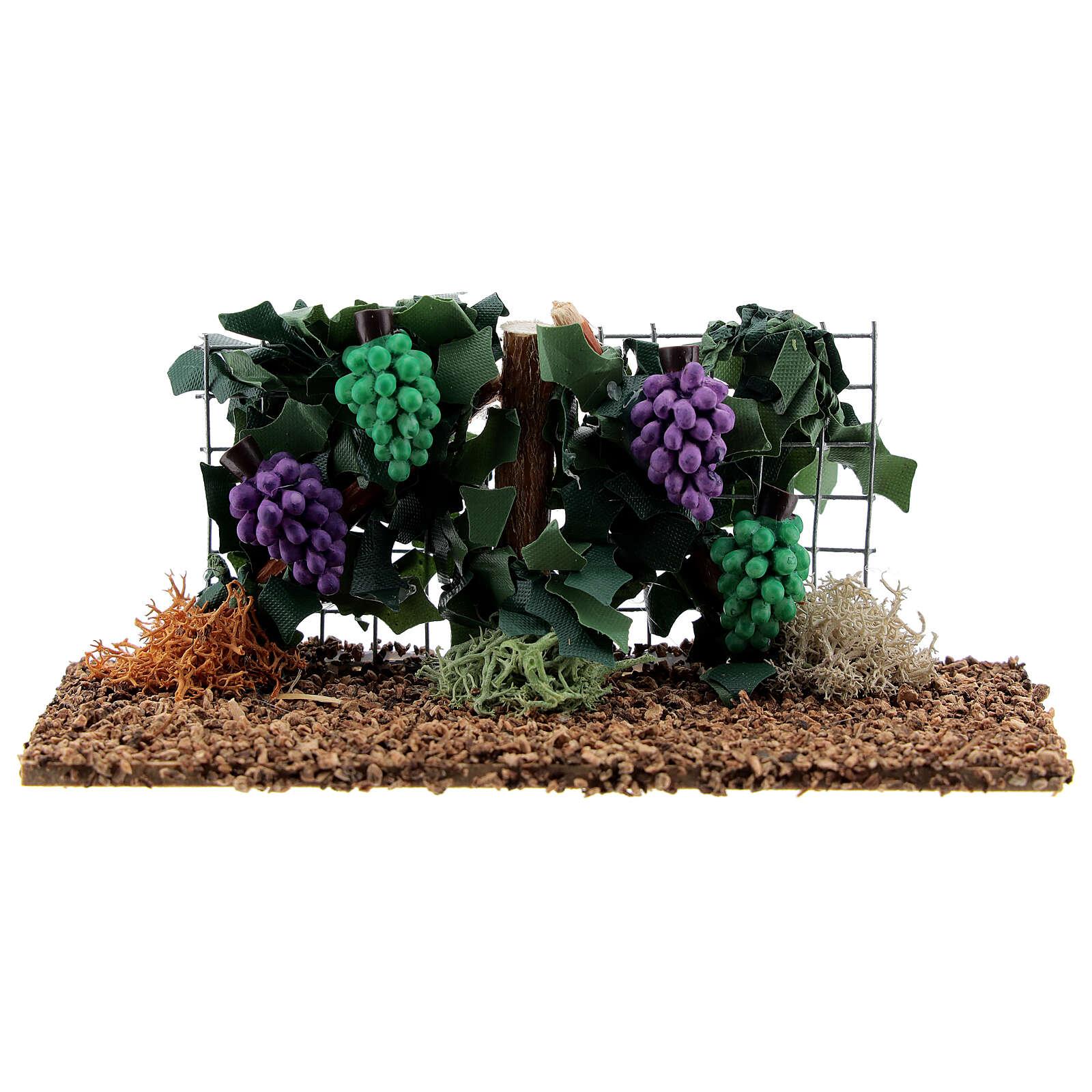 Vite con uva resina presepe 6-8 cm 4