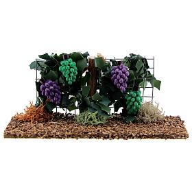 Vinha com uvas miniatura resina para presépio com figuras altura média 6-8 cm s1