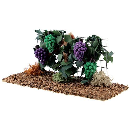 Vinha com uvas miniatura resina para presépio com figuras altura média 6-8 cm 2