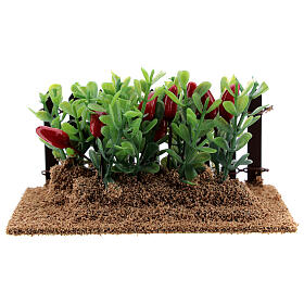 Garden with peppers and aubergines Nativity scene 12-14 cm s1