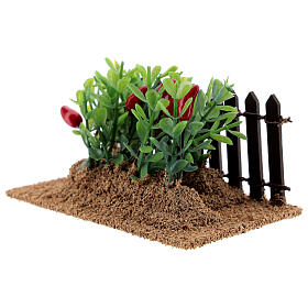 Garden with peppers and aubergines Nativity scene 12-14 cm s2