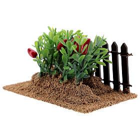 Horta com pimentas miniatura PVC para presépio com figuras altura média 12-14 cm s2
