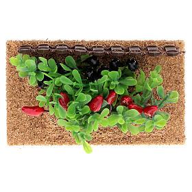 Horta com pimentas miniatura PVC para presépio com figuras altura média 12-14 cm s3