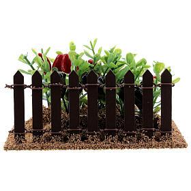 Horta com pimentas miniatura PVC para presépio com figuras altura média 12-14 cm s5