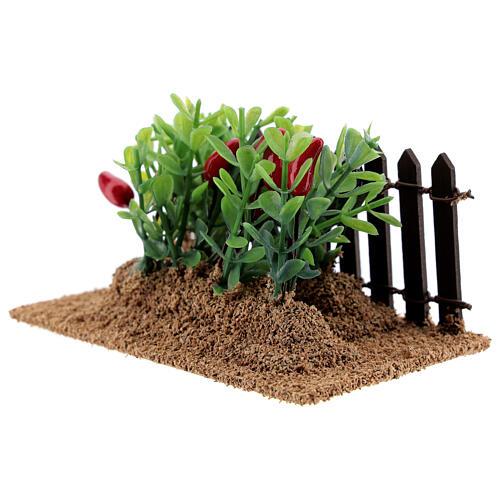 Horta com pimentas miniatura PVC para presépio com figuras altura média 12-14 cm 2