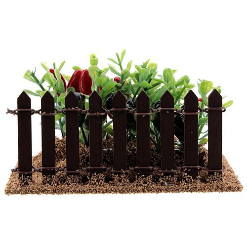 Horta com pimentas miniatura PVC para presépio com figuras altura média 12-14 cm 5