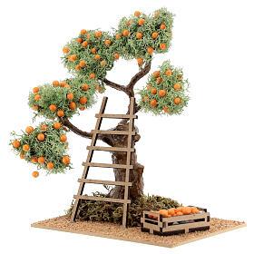 Orange tree with box 16 cm for Nativity Scene with 8-10 cm figurines s2