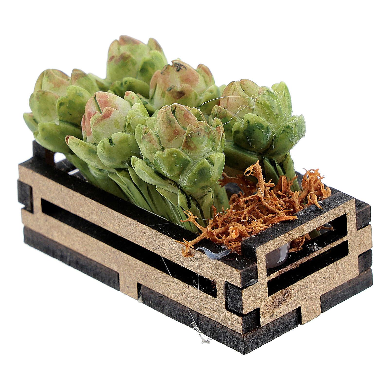 Artichokes in box Nativity scene 12-14 cm 4