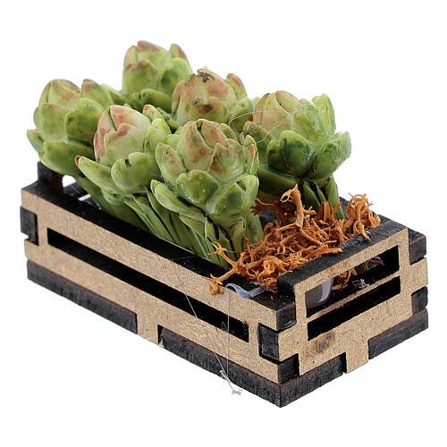 Artichokes in box Nativity scene 12-14 cm 2