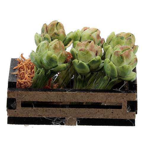 Artichokes in box Nativity scene 12-14 cm 3