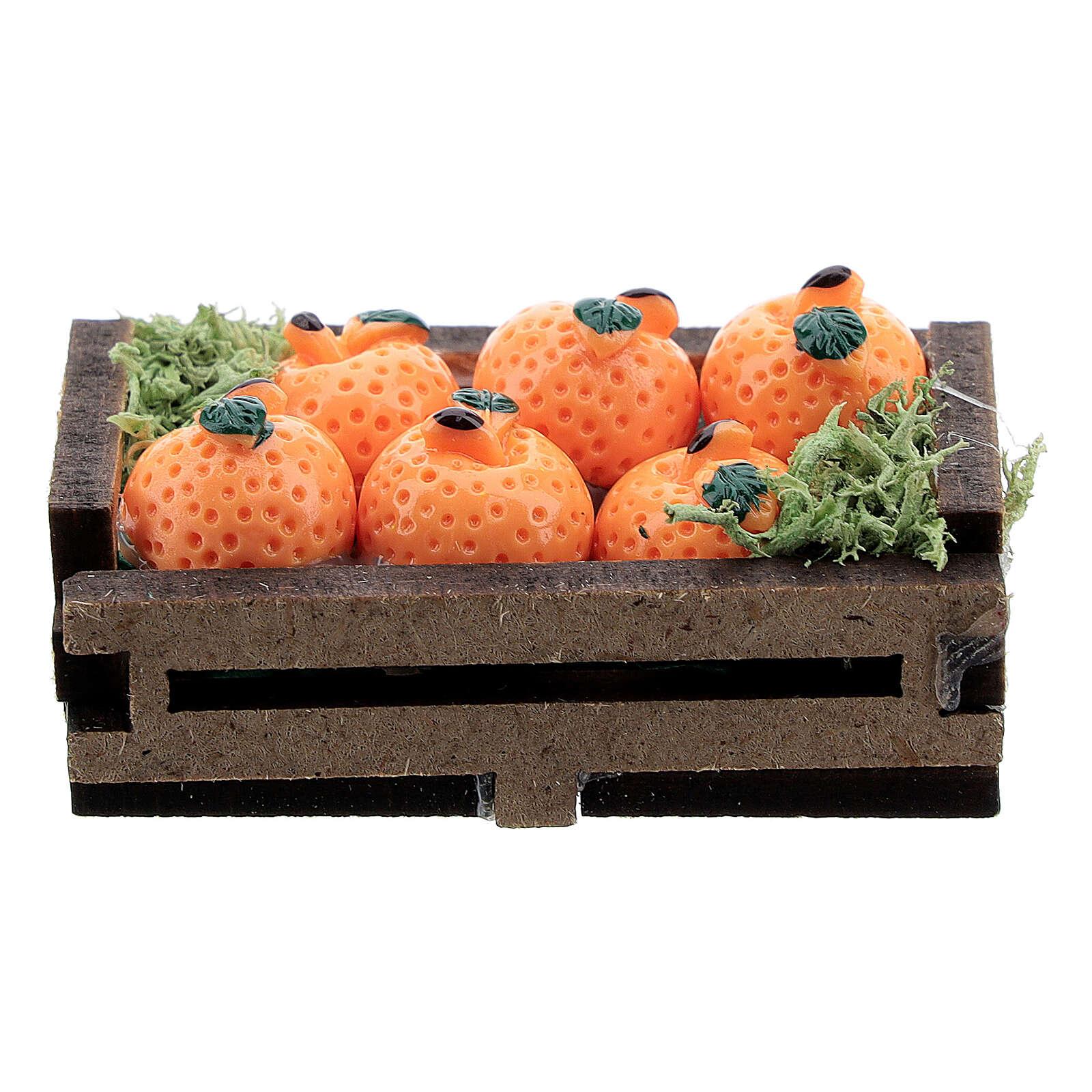 Caisse d'oranges miniature crèche 16 cm 4