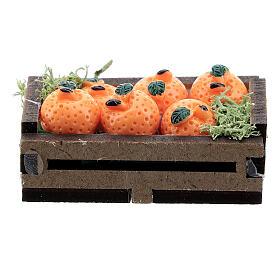 Caisse d'oranges miniature crèche 16 cm s1