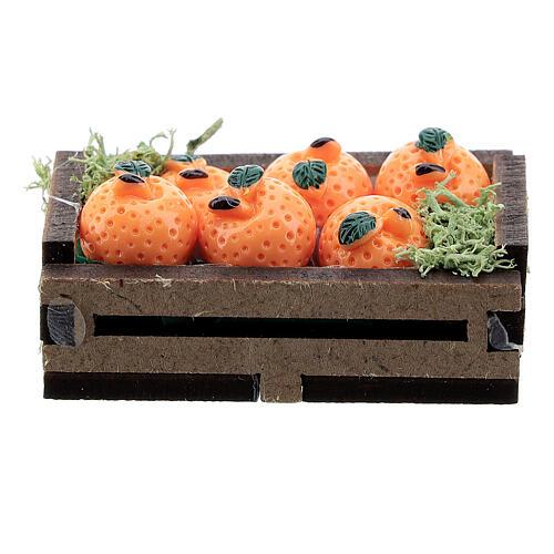 Caisse d'oranges miniature crèche 16 cm 1
