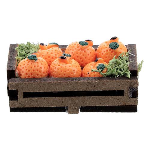 Caisse d'oranges miniature crèche 16 cm 3