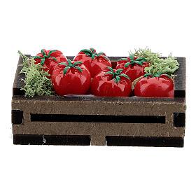 Cassetta legno con pomodori presepe 14-16 cm s3