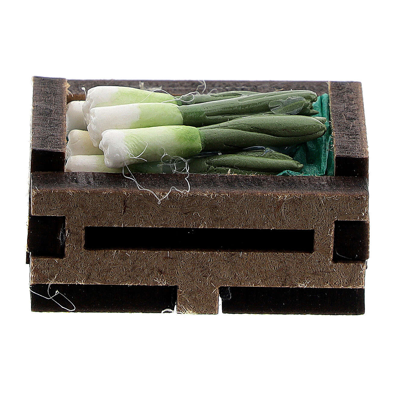 Wood box with resin onions for Nativity Scene with 10-12 cm figurines 4