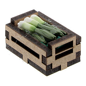 Wood box with resin onions for Nativity Scene with 10-12 cm figurines s2