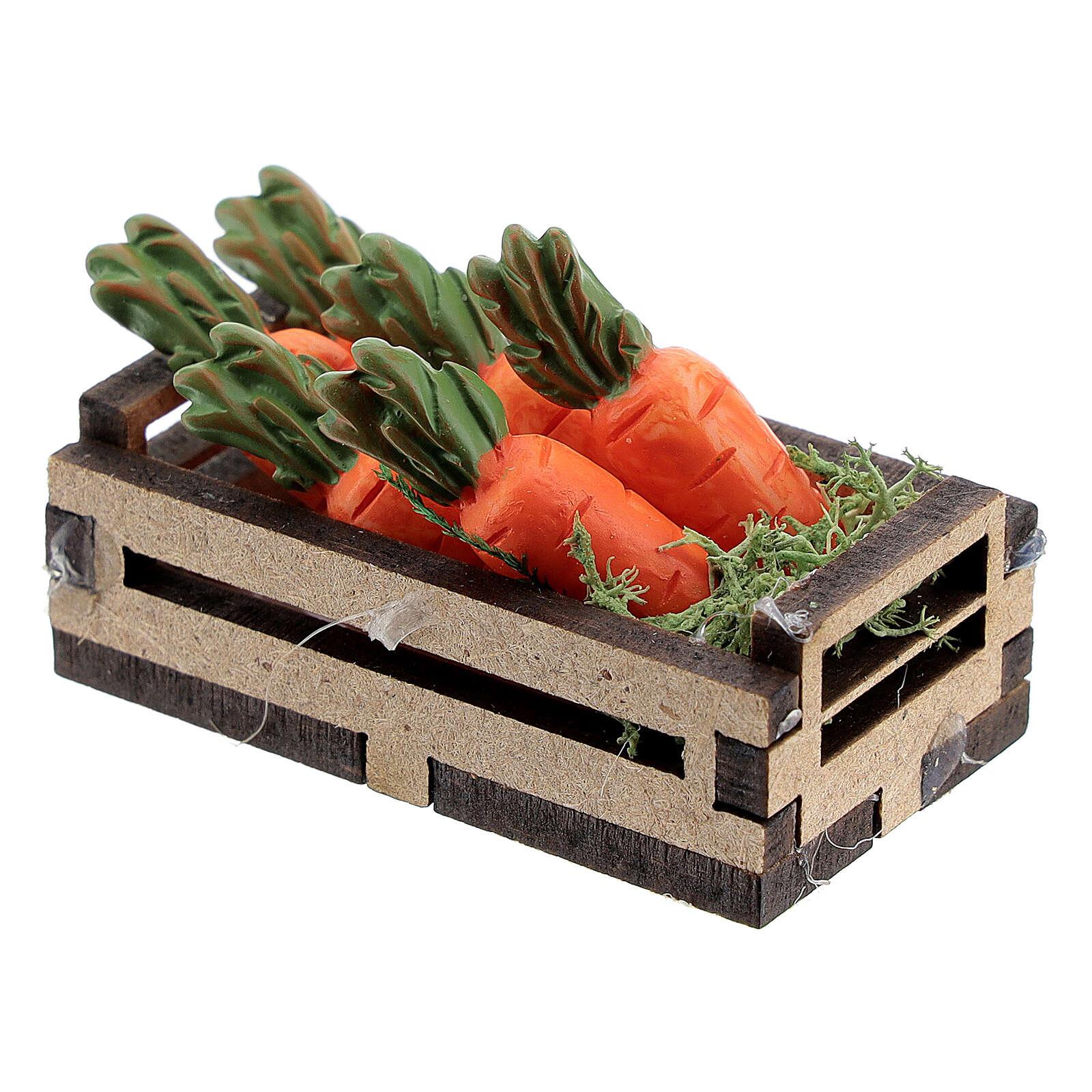 Caisse bois avec carottes crèche 12-14 cm 4