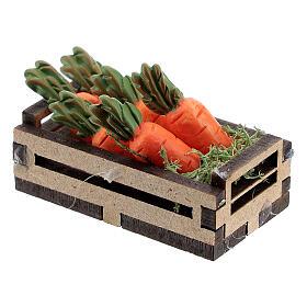 Caisse bois avec carottes crèche 12-14 cm s2
