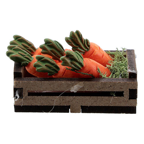 Wood box with carrots for Nativity Scene with 12-14 cm figurines 1