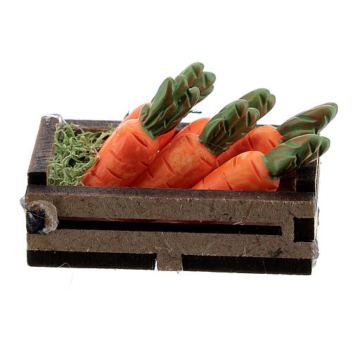 Wood box with carrots for Nativity Scene with 12-14 cm figurines 3