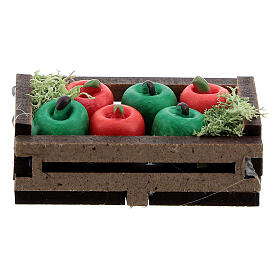 Apples in box Nativity scene 12-14 cm s1