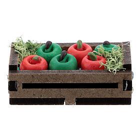 Apples in box Nativity scene 12-14 cm s3