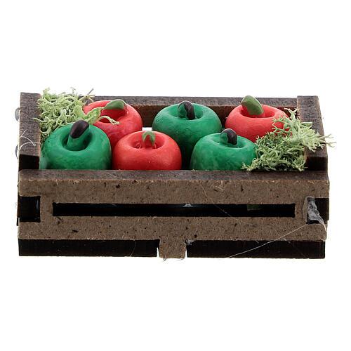 Apples in box Nativity scene 12-14 cm 1
