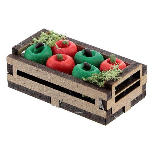 Apples in box Nativity scene 12-14 cm 2