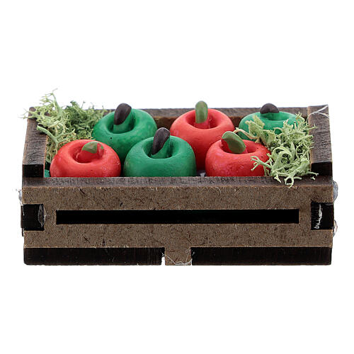 Apples in box Nativity scene 12-14 cm 3