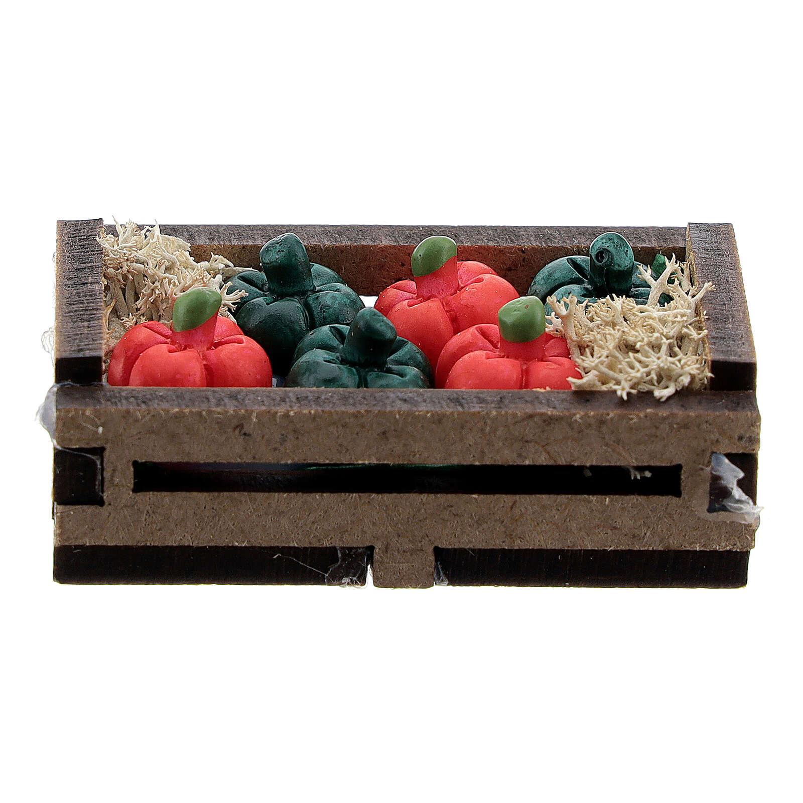 Resin peppers in box Nativity scene 10-12 cm 4