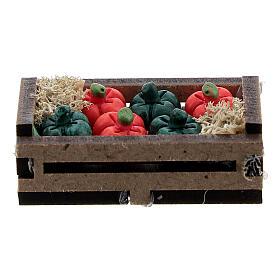 Resin peppers in box Nativity scene 10-12 cm s3