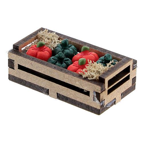 Resin peppers in box Nativity scene 10-12 cm 2