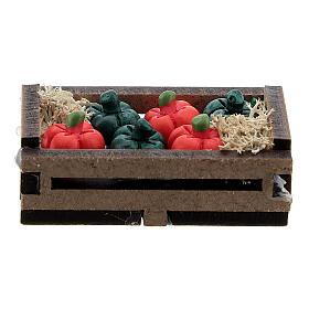 Peperoni resina in cassetta presepe 10-12 cm s1